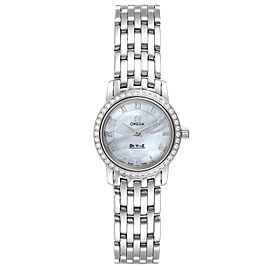 Omega DeVille MOP Diamond Stainless Steel Ladies Watch