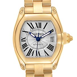 Cartier Roadster 18K Yellow Gold Large Mens Watch W62005V1 Box Papers