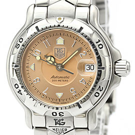 Polished TAG HEUER 6000 Chronometer Steel Automatic Ladies Watch WH2315