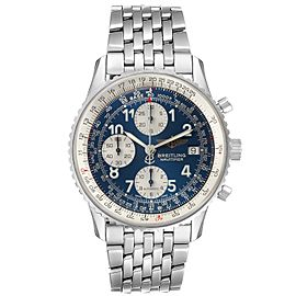 Breitling Navitimer II Blue Arabic Numeral Dial Steel Mens Watch