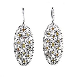 Odelia 18K White Gold with Diamond Drop Earrings
