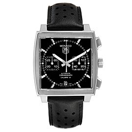 Tag Heuer Monaco Black Dial Automatic Mens Watch