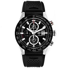 Tag Heuer Carrera Chronograph Automatic Mens Watch CAR201Z Box Card