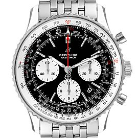 Breitling Navitimer 01 Black Dial Steel Mens Watch AB0121