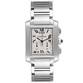 Cartier Tank Francaise Chrongraph Steel Mens Watch