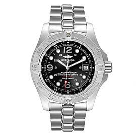 Breitling Superocean Steelfish Black Dial Steel Mens Watch A17390