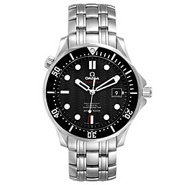 Omega Seamaster Black Dial Steel Mens Watch