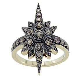 H. Stern 18K Yellow Gold & Champagne Diamonds Genesis Star Ring Size 6
