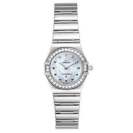 Omega Constellation My Choice Diamond Steel Ladies Watch 1465.71.00 Box Card
