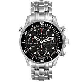 Omega Seamaster Chronograph Black Dial Watch 213.30.42.40.01.001 Box Card
