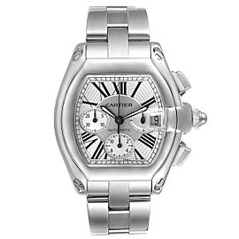Cartier Roadster XL Chronograph Automatic Mens Watch W62019X6 Box Papers