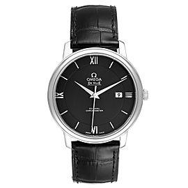Omega DeVille Prestige Black Dial Steel Watch