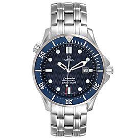 Omega Seamaster 41 James Bond Blue Dial Steel Watch