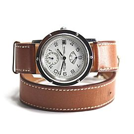 Hermes Clipper Stainless Steel Automatic 36mm Mens Watch