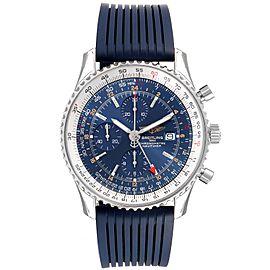 Breitling Navitimer World GMT Blue Dial Steel Watch