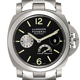 Panerai Luminor Power Reserve Automatic Titanium Mens Watch PAM00171 Papers