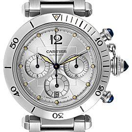 Cartier Pasha Seatimer Chronograph Steel Mens Watch W31030H3