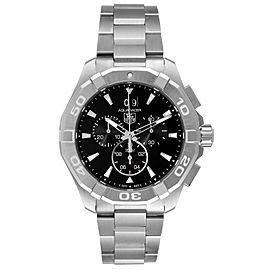 Tag Heuer Aquaracer Black Dial Chronograph Steel Mens Watch CAY1110