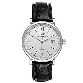 IWC Portofino Silver Dial Automatic Steel Mens Watch IW356501