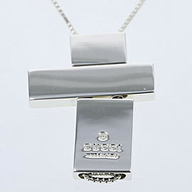 GUCCI 925 Silver Necklace TBRK-430