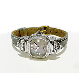 David Yurman Sterling Silver Diamond MOP Dial Watch T-22300