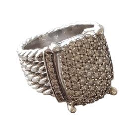 David Yurman Wheaton Sterling Silver and Diamond Ring Size 7