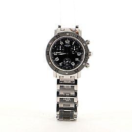 Hermes Clipper Diver Chronograph Quartz Watch Stainless Steel 39