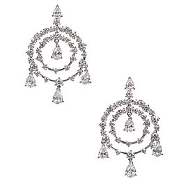 Van Cleef & Arpels Petillante Diamond Gold Chandelier Earrings