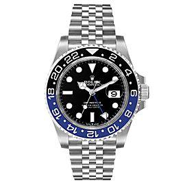 Rolex GMT Master II Black Blue Batman Jubilee Mens Watch 126710 Box Card