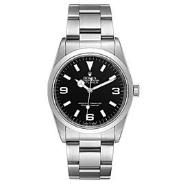 Rolex Explorer I Black Dial Stainless Steel Mens Watch