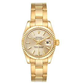 Rolex President Datejust Yellow Gold Champagne Dial Ladies Watch 179178