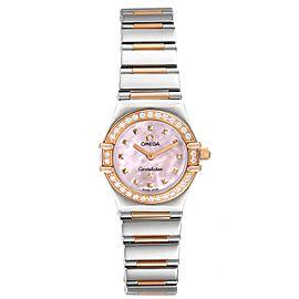 Omega Constellation Steel Rose Gold Diamond Mini Ladies Watch 1365.71.00