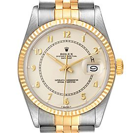 Rolex Datejust Steel Yellow Gold Bullseye Dial Vintage Watch 16013