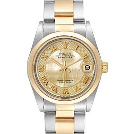Rolex Datejust 31 Midsize Steel Yellow Gold MOP Dial Watch 78243 Box Papers