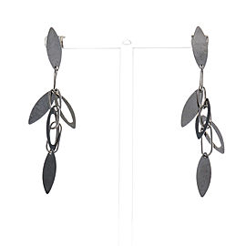 Marquise Dangle Earrings 14k White Gold