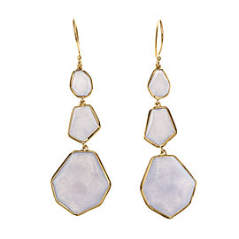 Ippolita Rock Candy 18K Yellow Gold Blue Moonstone Dangle Earrings