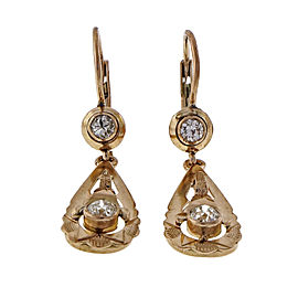 10K Rose Gold & 0.54ct Diamonds Dangle Earrings