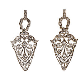 Vintage Platinum Diamond Earrings