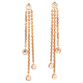 14K Rose Gold .85ct Diamond by the Yard Dangle Earrings