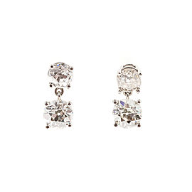 Platinum 2.60ct Diamond Dangle Earrings