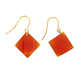 Peter Suchy 14K Yellow Gold with 21.70ct. Carnelian Dangle Earrings