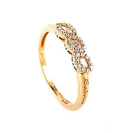 Salvini 18K Rose Gold Diamond Band Ring Size 7