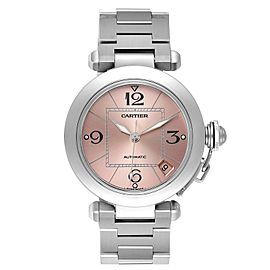 Cartier Pasha C Midsize Pink Dial Automatic Ladies Watch W31075M7 Box Papers