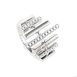 Salvini 18K White Gold Diamond Band Ring Size 7.25