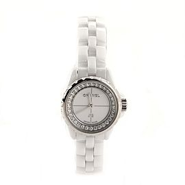 Chanel J12 Quartz Watch Ceramic and Stainless Steel with Diamond Flange 19