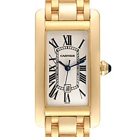 Cartier Tank Americaine Midsize Yellow Gold Automatic Ladies Watch 1725