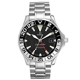 Omega Seamaster GMT 50th Anniversary Steel Mens Watch 2234.50.00 Box Card
