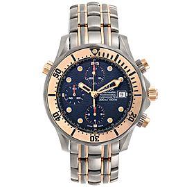 Omega Seamaster 41mm Titanium 18K Rose Gold Mens Watch