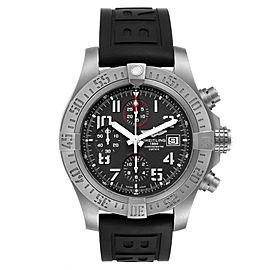 Breitling Avenger Bandit Grey Dial Titanium Mens Watch E13383 Box Card