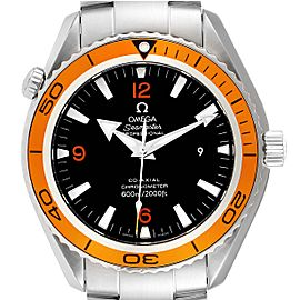 Omega Seamaster Planet Ocean XL Orange Bezel Watch 2208.50.00